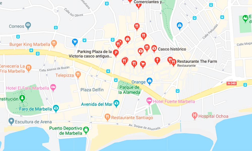 Marbella Old Town map