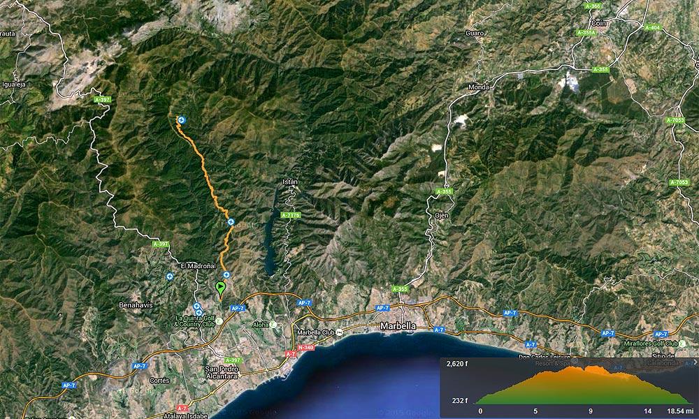 El Castaño Santo - Marbella Hiking Routes