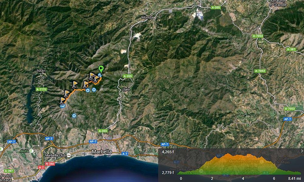 Ascent to La Concha - Marbella Hiking Routes