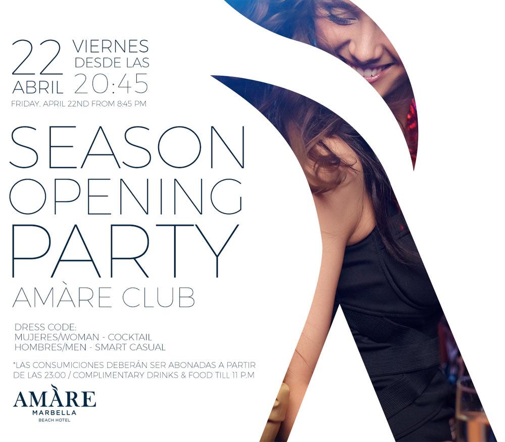 Saison Eröffnungsparty | Amare Marbella Beach Hotel
