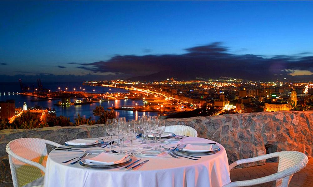 Restaurantes con vistas en Málaga - Parador de Gibralfaro