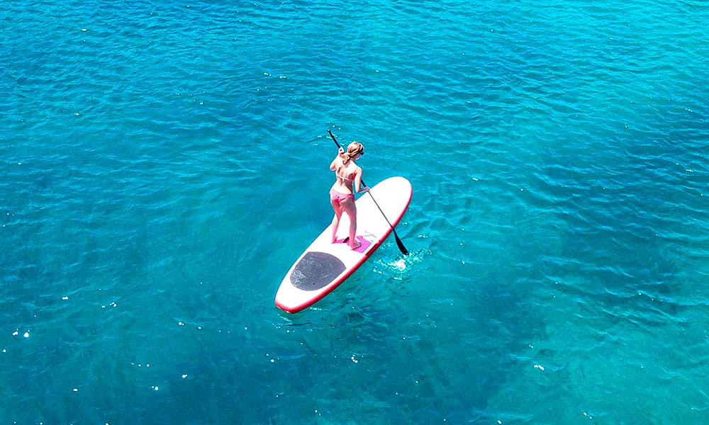 Paddle surfing Marbella