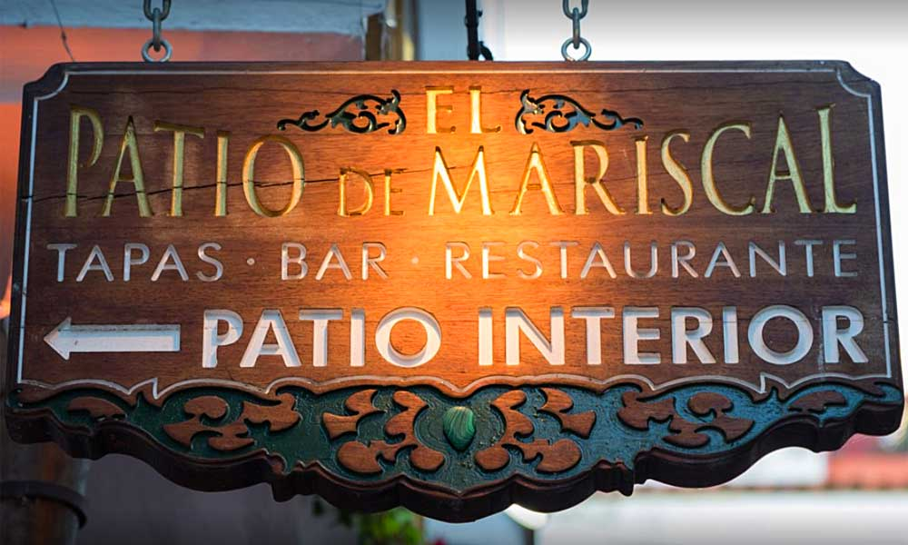 Marbella Altstadt Restaurants - Patio de Mariscal restaurant Marbella