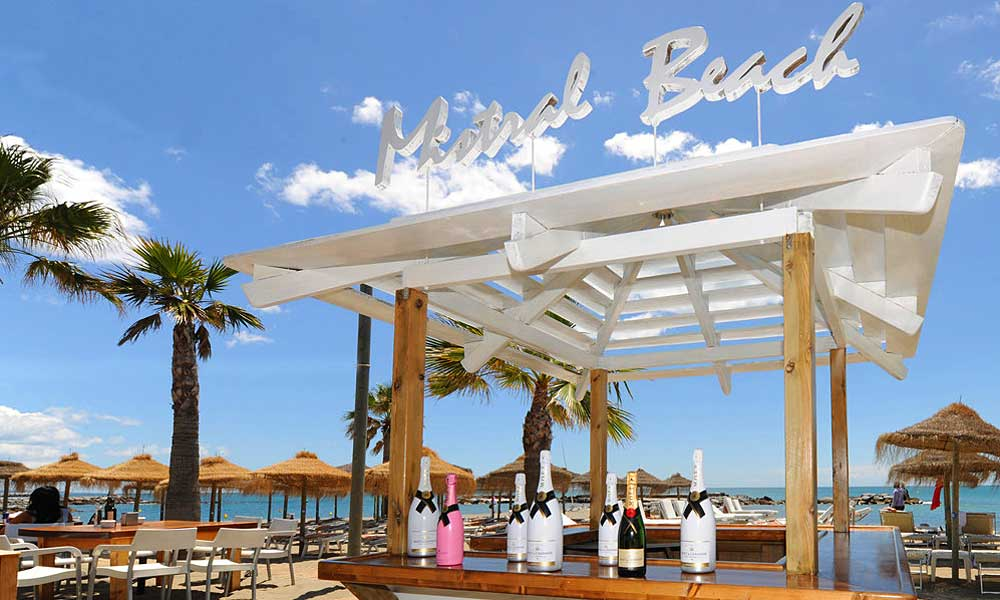 Beach Clubs Marbella - Mistral Beach Club - Image courtesy of Mistral Beach