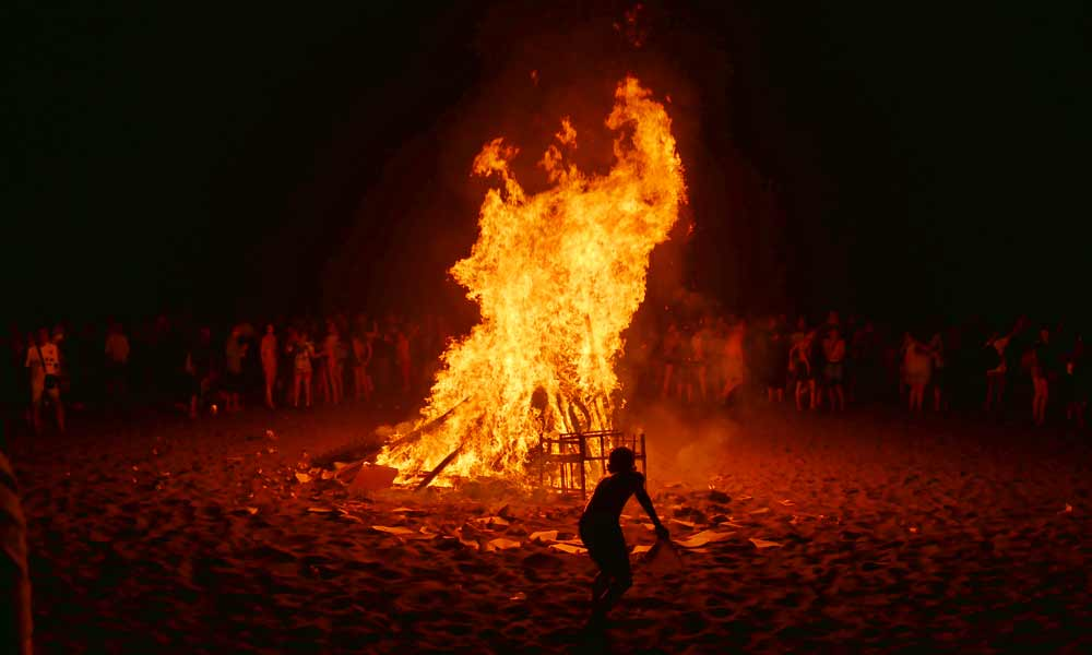 Saint John's eve bonfire