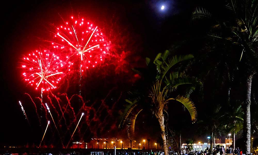 Volksfest von Málaga (Feria de Málaga) - feuerwerk