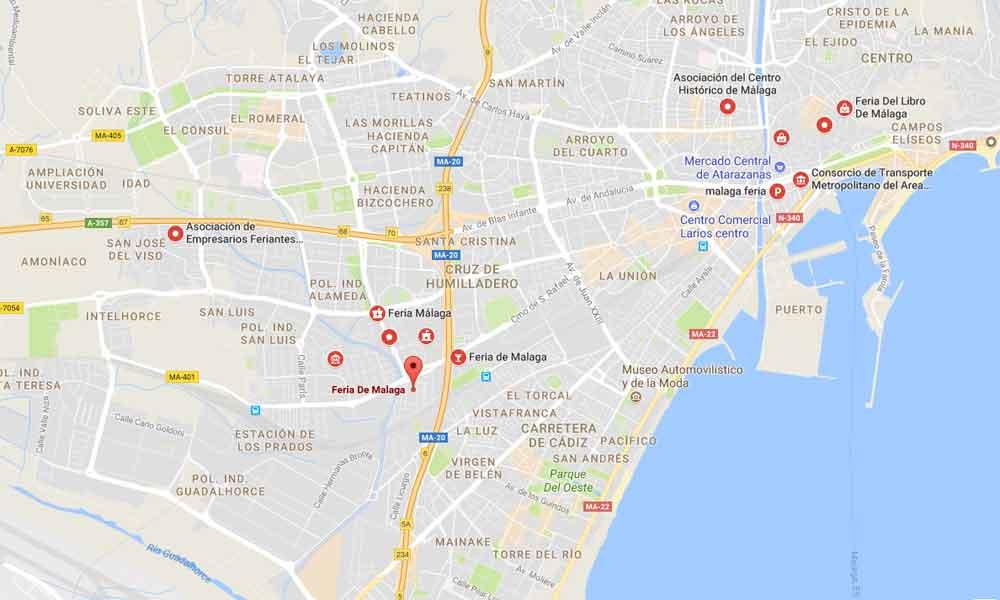 Foire de Malaga (Feria de Málaga) - emplacement