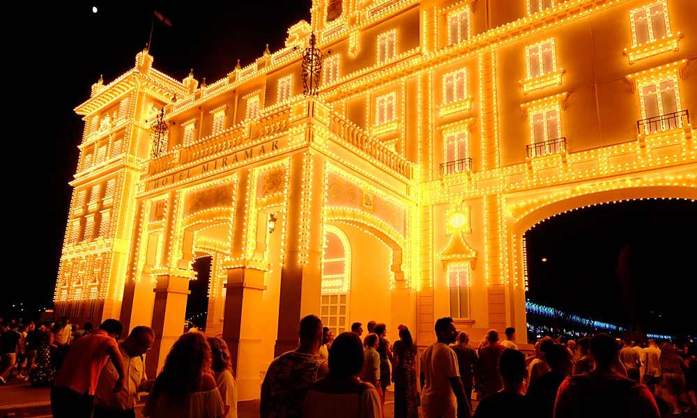 Volksfest von Málaga (Feria de Málaga) - Nacht