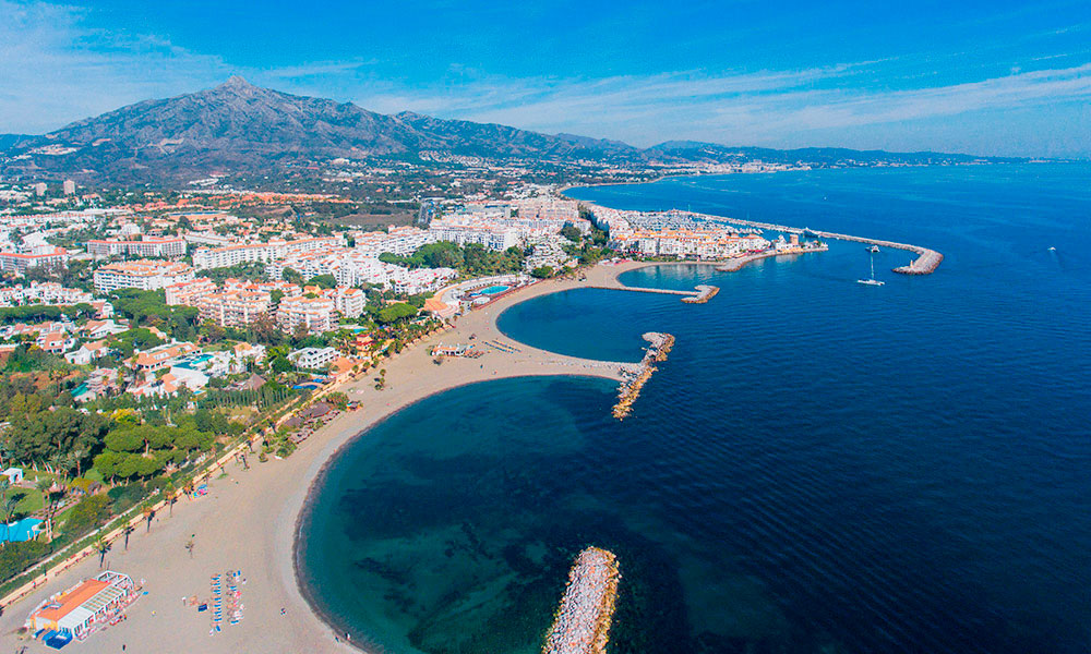 Puerto Banus west beaches