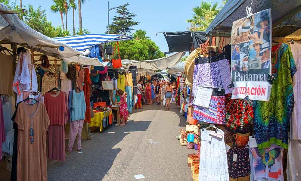 Puerto Banus street market editorial credit JosephWGallagher / Shutterstock.com