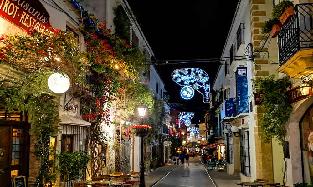 Marbella old town Christmas