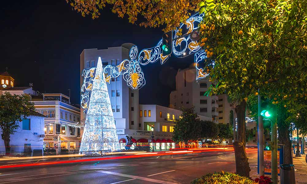 Christmas lights Marbella