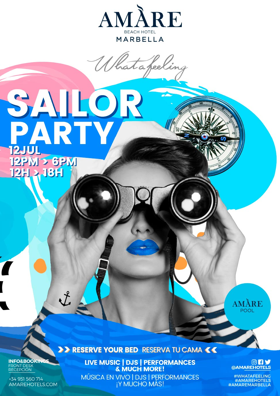 Sail Pool Party | Events Amare Beach Hotel Marbella