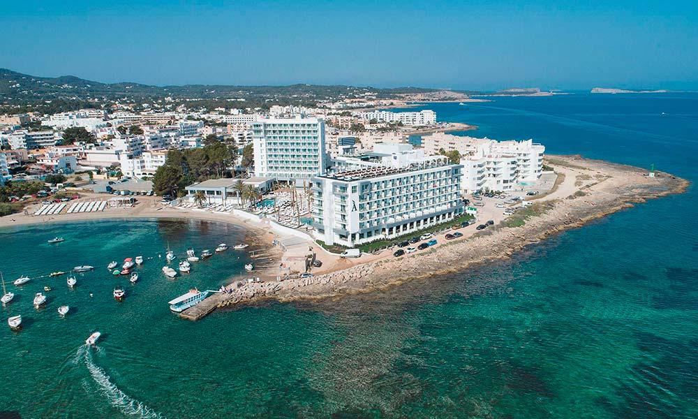 Amàre Beach Hotel Ibiza aerial view