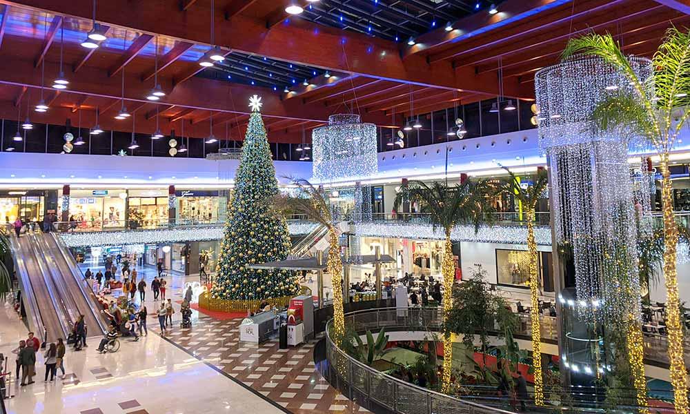 Xmas tree Cañada shopping centre