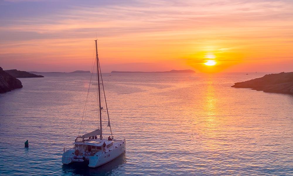 Ibiza catamaran, editorial credit:  jotapg / Shutterstock.com